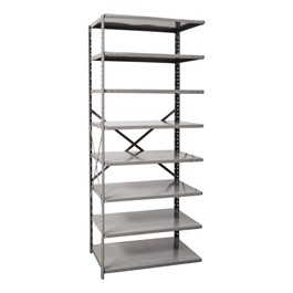 Medium-Duty Open Shelving Adder Unit w/ 8 Shelves