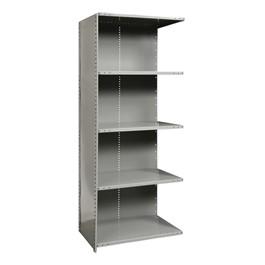 Heavy-Duty Closed Shelving Adder Unit w/ 5 Shelves