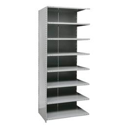 Medium-Duty Closed Shelving Adder Unit w/ 8 Shelves