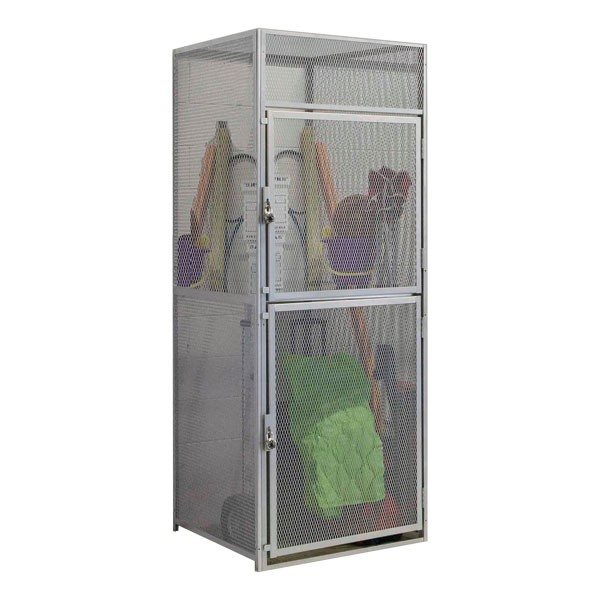 Double-Tier Bulk Cage Lockers