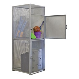 Double-Tier Bulk Cage Lockers