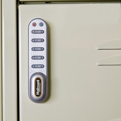 One-Wide Triple-Tier Lockers w/ Electronic Lock