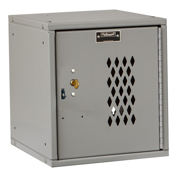 Cubix Modular Locker w/ Ventilated Door - Built-In Key Lock - shown in platinum