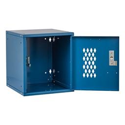 Cubix Modular Locker w/ Ventilated Door - Finger Pull Handle - shown in marine blue