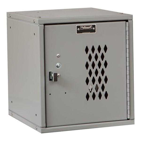 Cubix Modular Locker w/ Ventilated Door - Finger Pull Handle - shown in platinum