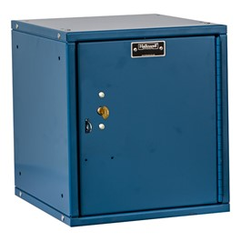 Cubix Modular Locker w/ Solid Door - Built-In Key Lock - shown in marine blue