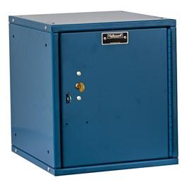 Cubix Modular Locker w/ Solid Door - Built-In Key Lock - shown in marine blue