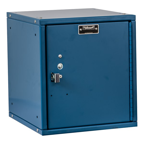 Cubix Modular Locker w/ Solid Door - Finger Pull Handle - shown in marine blue