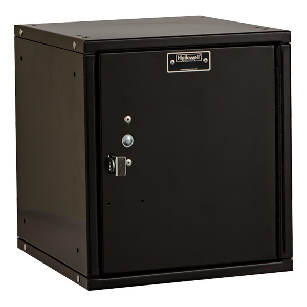 Cubix Modular Locker w/ Solid Door - Finger Pull Handle - shown in ebony
