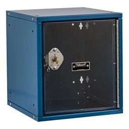 Cubix Modular Locker w/ Safety View Door - Built-In Key Lock - shown in marine blue