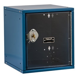 Cubix Modular Locker w/ Safety View Door - Built-In Key Lock - shown in marine blue