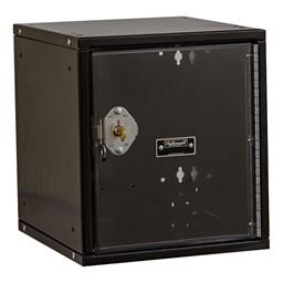 Cubix Modular Locker w/ Safety View Door - Built-In Key Lock - shown in ebony
