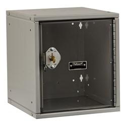 Cubix Modular Locker w/ Safety View Door - Built-In Key Lock - shown in platinum