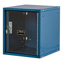 Cubix Modular Locker w/ Safety View Door - Finger Pull Handle - shown in marine blue