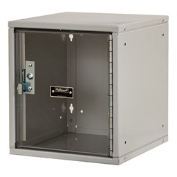 Cubix Modular Locker w/ Safety View Door - Finger Pull Handle - shown in platinum