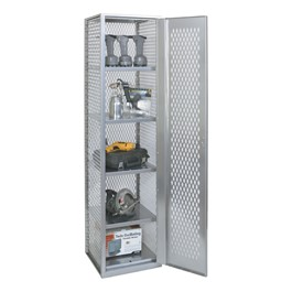 """MaxView High-Visibility One-Wide Single-Tier Locker (72\"""" H Opening) - Shown open"""