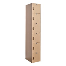 AquaMax One-Wide Six-Tier Plastic Lockers<br>Shown w/ taupe doors