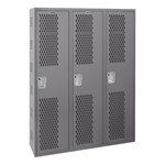 All-Welded Ventilated Three-Wide Single-Tier Lockers