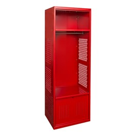 One-Wide Open-Front Rookie Sport Locker w/ Foot Locker - Shown in red