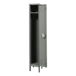 "Premium One-Wide Single-Tier Locker (72"" H Opening) - Shown open"