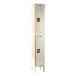 Corrosion-Resistant One-Wide Double-Tier Lockers