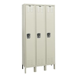 Premium Three-Wide Single-Tier Lockers - Shown w/ doors shut