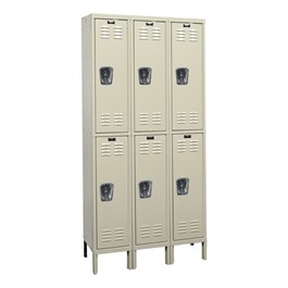 Corrosion-Resistant Three-Wide Double-Tier Lockers