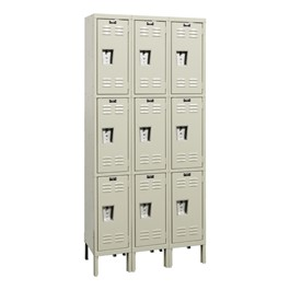 Corrosion-Resistant Three-Wide Triple-Tier Lockers