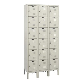 Corrosion-Resistant Three-Wide Six-Tier Lockers