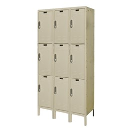 Three-Wide Triple-Tier Lockers w/ Electronic Lock