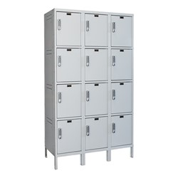 Three-Wide Four-Tier Laptop/Backpack Lockers