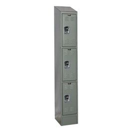 "Ready-Built II Fully Assembled One-Wide Triple-Tier Lockers w/ Slope Top (24"" H Openings)"