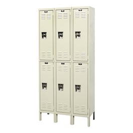 "Ready-Built Fully Assembled Three-Wide Double-Tier Lockers (36"" Openings)"