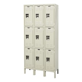 "Ready-Built Fully Assembled Three-Wide Triple-Tier Lockers (24"" H Openings)"