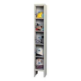"""Clear-View Plus One-Wide Five-Tier Lockers (12\"""" H Openings)"""