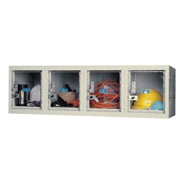 """Clear-View Plus Four-Compartment Wall Locker (12\"""" H Openings)"""