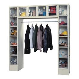 "Clear-View Plus 16-Locker Unit (12\"" H Openings)"