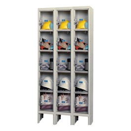 "Clear-View Plus Three-Wide Five-Tier Lockers (12"" H Openings)"