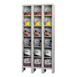 """Clear-View Plus Three-Wide Six-Tier Lockers (12\"""" H Openings)"""