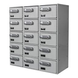 Cell Phone & Tablet Locker w/ DigiTech Electronic Lock - Three-Wide