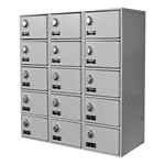 Cell Phone & Tablet Locker w/ Padlock - Three-Wide