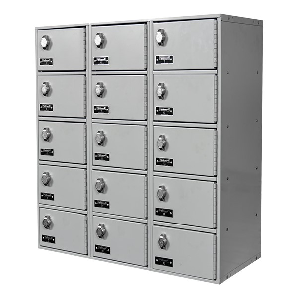 Cell Phone & Tablet Locker w/ Padlock Hasp - Three-Wide