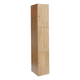 "72"" H One-Wide Triple-Tier Wood Club Lockers"