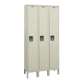 Maintenance-Free Quiet Three-Wide Single-Tier Locker