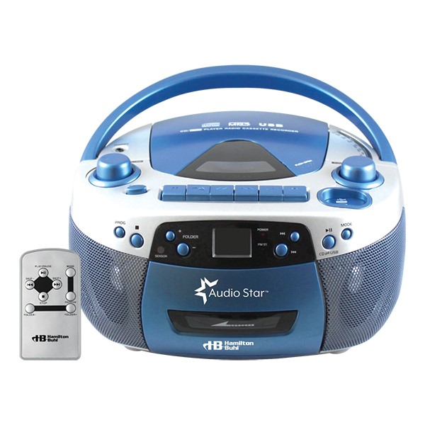 AudioStar Boombox w/ Tape and CD to MP3 Converter