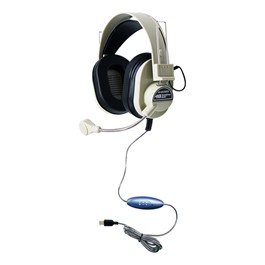 Deluxe Headphones w/ Microphone & USB Plug