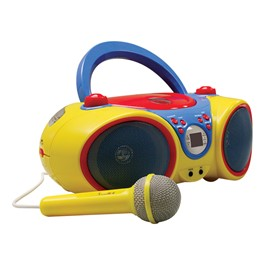 Kids Audio CD Player Karaoke Machine w/ Microphone