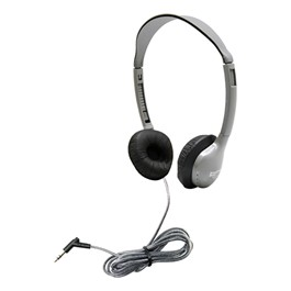 SchoolMate Personal Automatic Stereo/Mono Switching Headphones w/ Leatherette Earpads