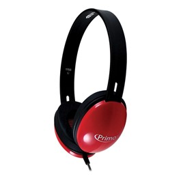 Primo Stereo Headphones - Red