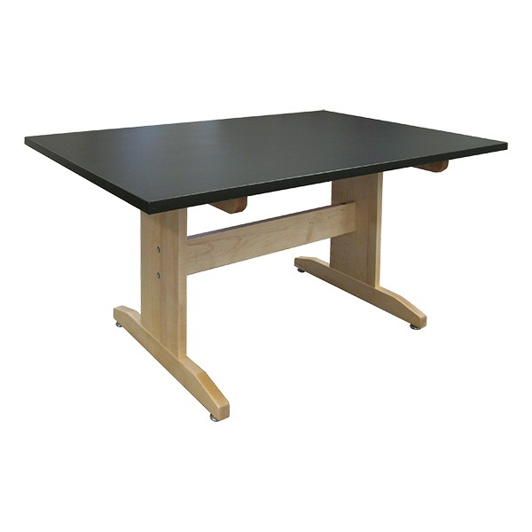 Hann Manufacturing Art Table W Black Laminate Top 42 W X 60 L At School Outfitters